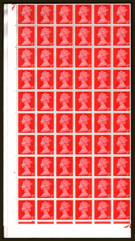 view larger image for SG 738 (1967) - 8d Bright Vermilion - 2 Bands - 2 DOT