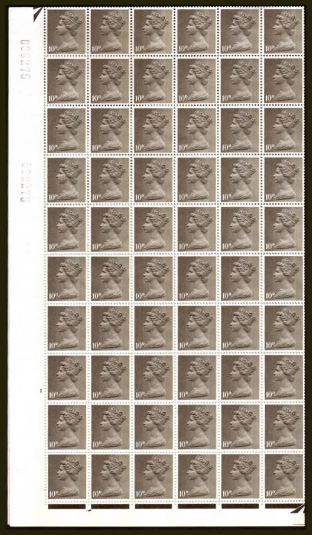 view larger image for SG 741 (1967) - 10d Drad - 2 Bands - Cylinder 1 NO DOT