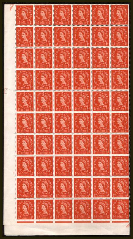 view larger image for SG 570 (1958) - �d Orange-Red -  Multiple Crowns - Cylinder 1 NO DOT