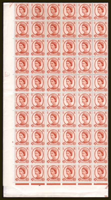 view larger image for SG 577 (1959) - 4�d Chestnut - Multiple Crowns - Cylinder 8