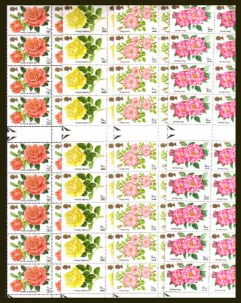 view larger image for SG 1006-1009 (1976) - Roses set of four