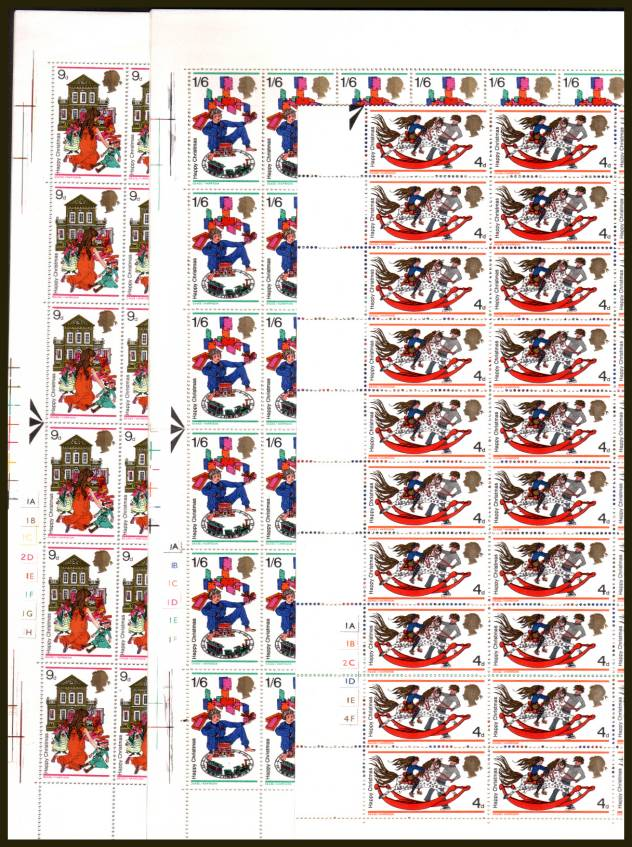 view larger image for SG 775-777 (1968) - Christmas set of three<br/>