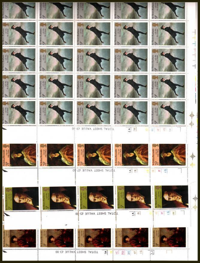 view larger image for SG 931-934 (1973) - British Paintings set of four<br/>