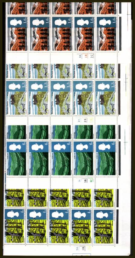 view larger image for SG 689p-692p (1966) - Landscapes <b>PHOSPHOR</b>  set of four<br/>