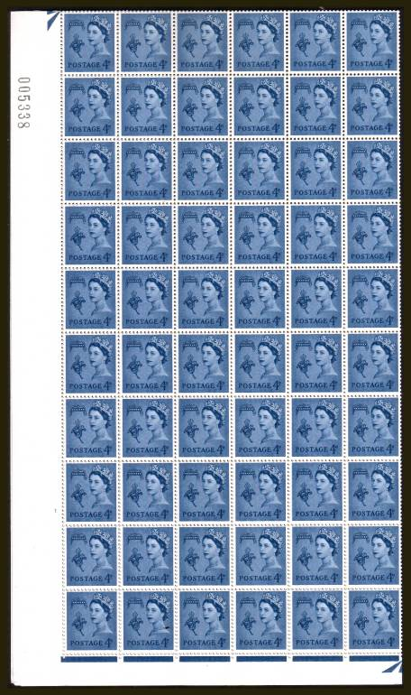 view larger image for SG G9 (1968) - <b>GUERNSEY</b><br/>4d Pale Ultramarine - No Watermark - Cylinder 1 NO DOT<br/>