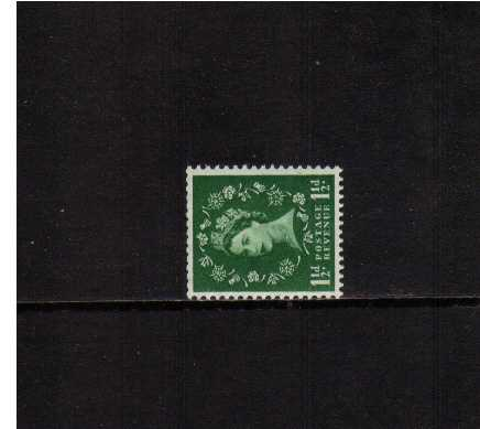 view larger image for SG 517a (1954) - 1�d Green<br/>WATERMARK SIDEWAYS
