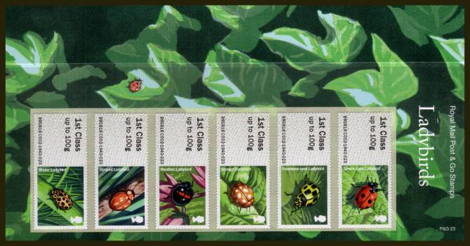 Stamp Image: view larger back view image for Ladybirds