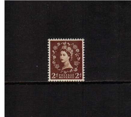 view larger image for SG 518 (1953) - 2d Red-Brown