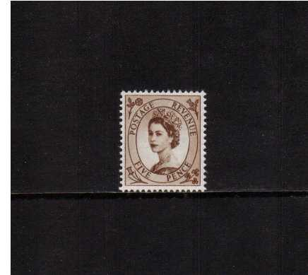 view larger image for SG 522 (1953) - 5d Brown