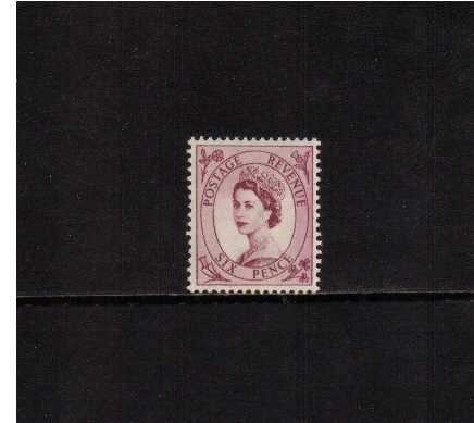 view larger image for SG 523 (1954) - 6d Reddish Purple