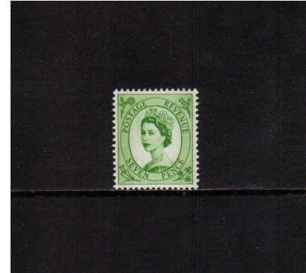 view larger image for SG 524 (1954) - 7d Bright Green