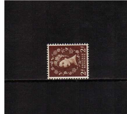 view larger image for SG 518a (1954) - 2d Red-Brown<br/>WATERMARK SIDEWAYS