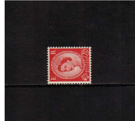 view larger image for SG 519a (1954) - 2�d Carmine-Red - Type I <br/>WATERMARK SIDEWAYS