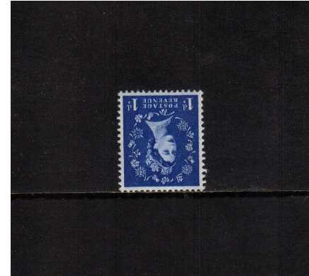 view larger image for SG 541Wi (1955) - 1d Ultramarine <br/>WATERMARK INVERTED