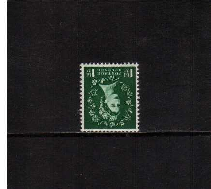 view larger image for SG 517Wi (1953) - 1�d Green <br/>WATERMARK INVERTED