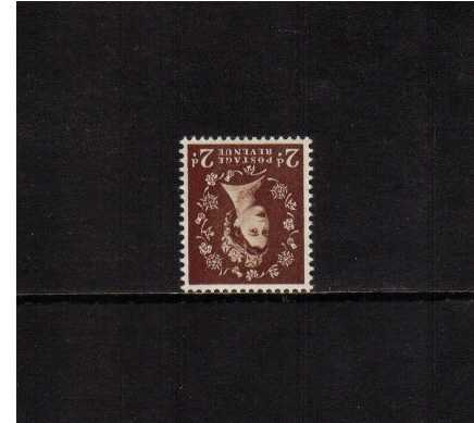 view larger image for SG 518Wi (1954) - 2d Red-Brown<br/>WATERMARK INVERTED