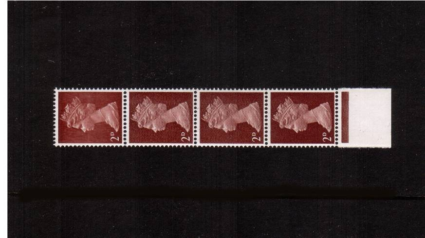 view larger image for SG 727var (1969) - 2d Lake-Brown - Type II - 2 Bands<br/>