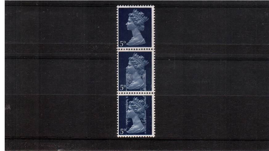 view larger image for SG 735Ey (1968) - 5d Royal Blue - 2 Bands<br/>