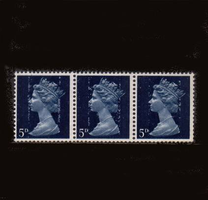 view larger image for SG 735var (1968) - 5d Royal Blue - 2 Bands<br/>