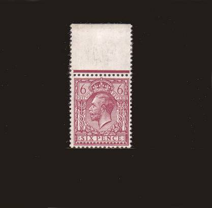 view larger image for SG 385a (1920) - 6d Reddish Purple - Perforation 14<br/>