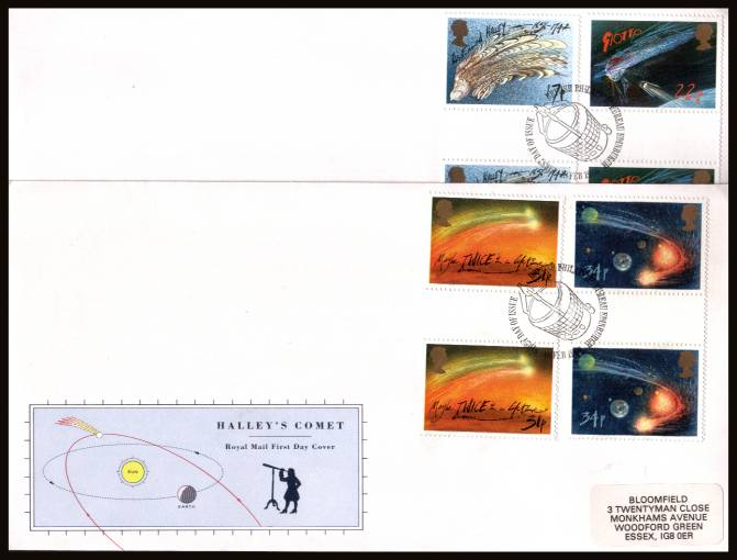 view larger back view image for Halley's Comet set of four 