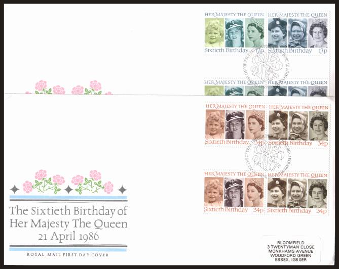 view larger back view image for 60th Birthday of The Queen set of four 