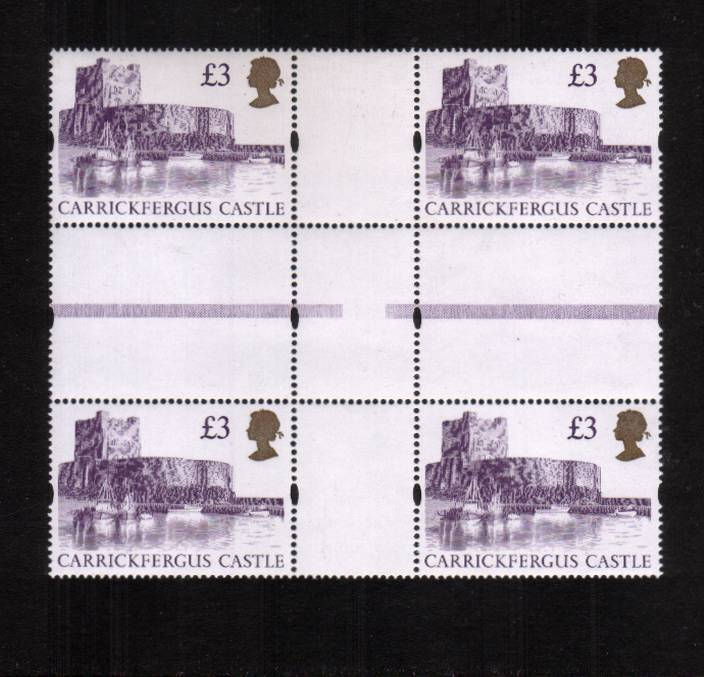 view larger image for SG 1613a (22 Aug 1995) - �3 Reddish Violet & Gold 'Gold Head' Castle<br/>