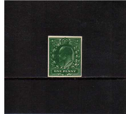 view larger image for SG219var (1902) - 1d Plate Proof double impression in Very Deep Green on thin White card with excellent margins