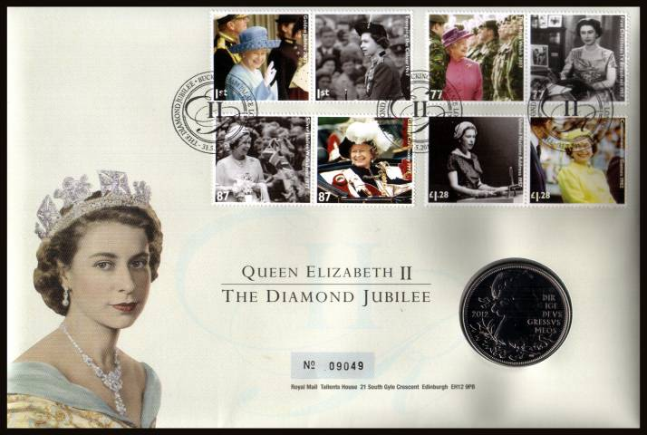 view larger image for SG RMC121 (2012) - Royal Mail and Royal Mint commemorative cover commemorating:<br/> 