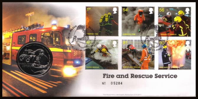 view larger image for SG RMC74 (2009) - Royal Mail and Royal Mint commemorative cover commemorating:<br/> 