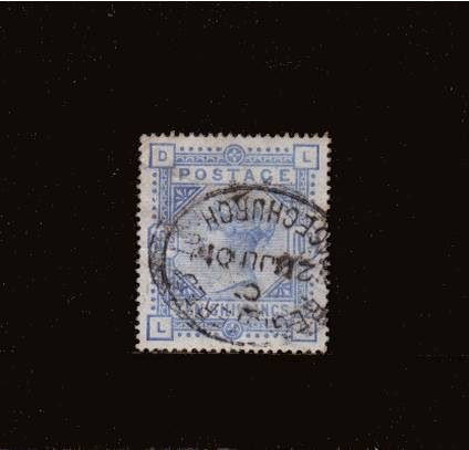 view larger image for SG 183a (1883) - 10/- Pale Ultramarine lettered 'L-D' cancelled with a REGISTERED - GRACECHURCH ST oval cancel dated 21 JU 01. The stamp looks in good condition but is a little wrinkled. SG Cat �550