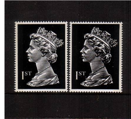 view larger image for SG 2979var (1999) - 1st Class Black - Typography<br/>
