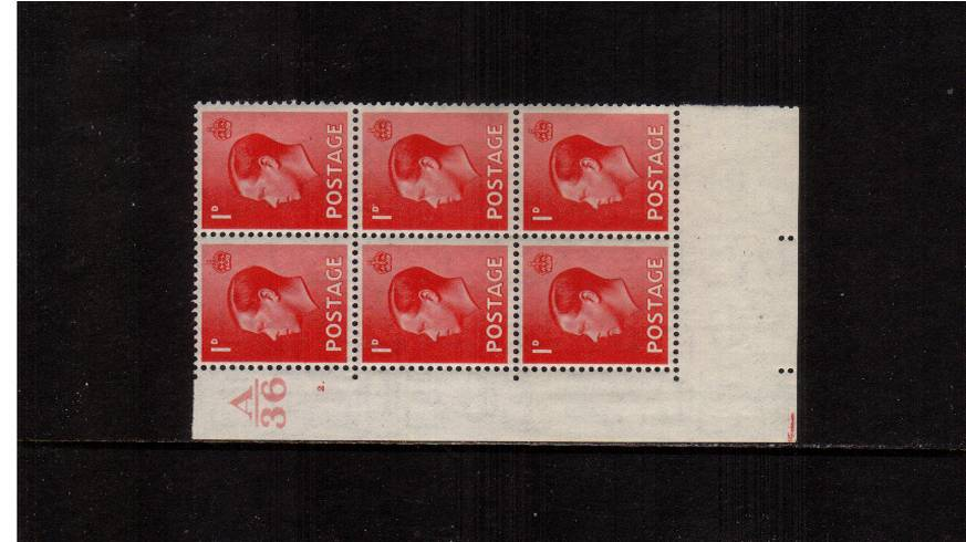 view larger image for SG 458 (1936) - 1d Scarlet<br/>