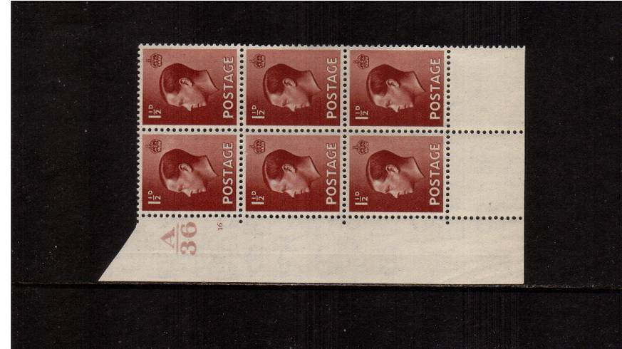 view larger image for SG 459 (1936) - 1�d Red-Brown<br/>