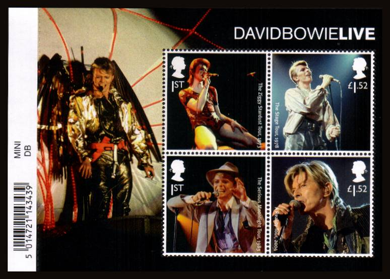 view larger image for SG MS3939 (14 Mar 2017) - David Bowie<br/>