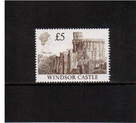 view larger image for SG 1413 (18 Oct 1988) - �5 Deep Brown - 'White Head' Castle