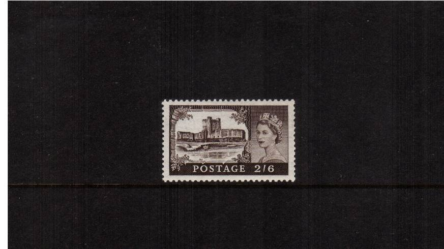 view larger image for SG 536 (1955) - 2/6d Black-Brown<br/>