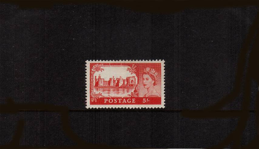 view larger image for SG 537 (1955) - 5/- Rose-Carmine<br/>