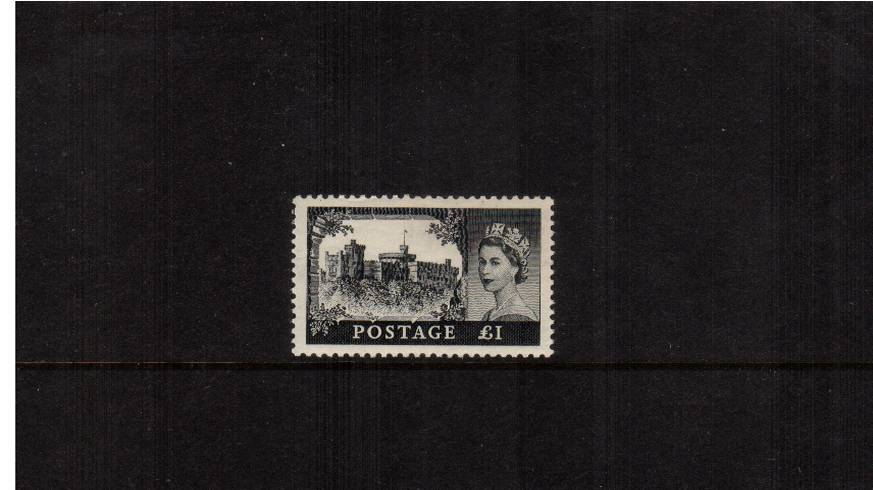 view larger image for SG 539 (1955) - �1 Black<br/>