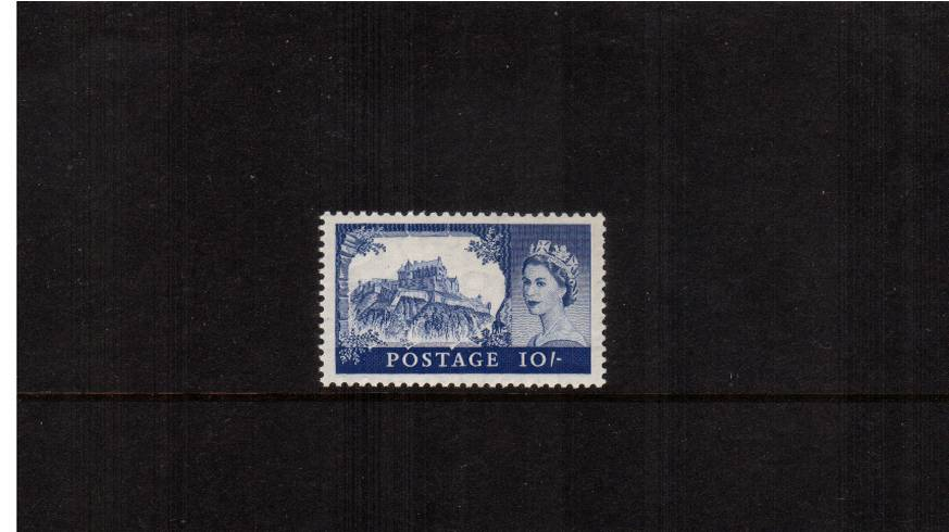view larger image for SG 538a (1958) - 10/- Dull Ultramarine<br/>