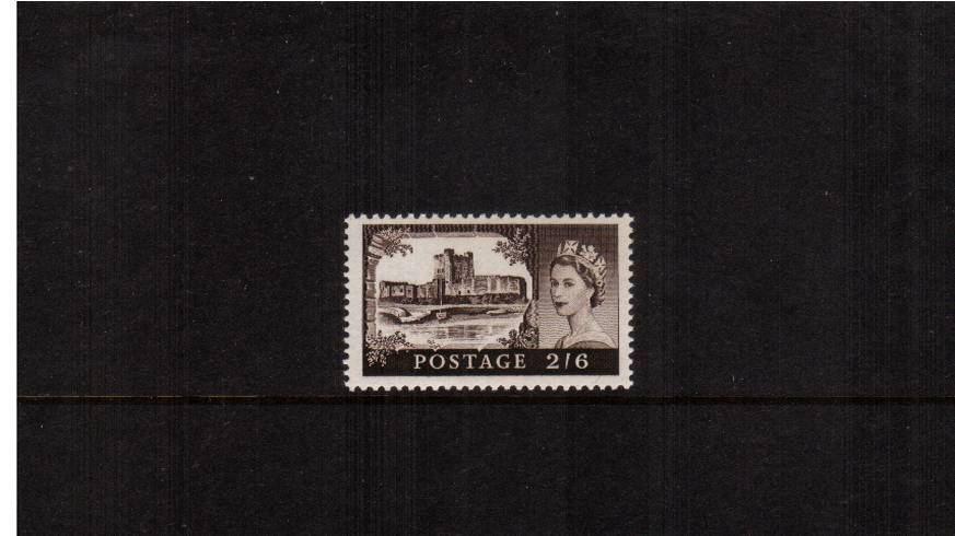 view larger image for SG 595 (1959) - 2/6d Black-Brown<br/>