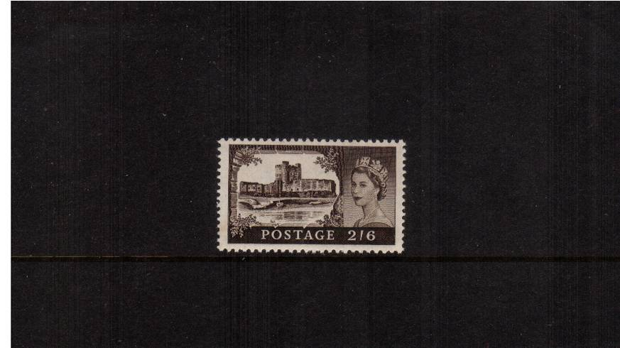 view larger image for SG 595a (1963) - 2/6d Black-Brown<br/>