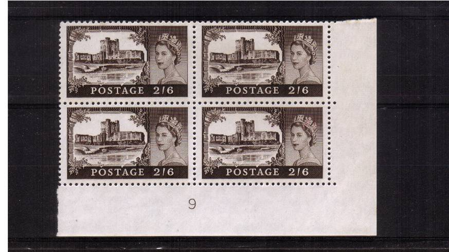 view larger image for SG 595 (1963) - 2/6d Black-Brown<br/>