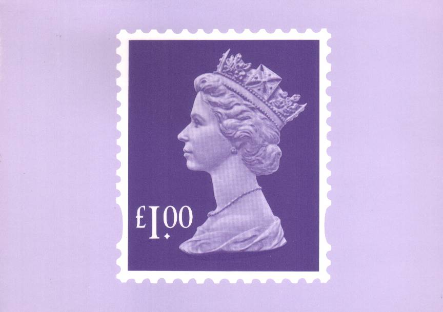 view larger image for PHQ No.D7B (1995) - £1 Stamp single card<br/>
