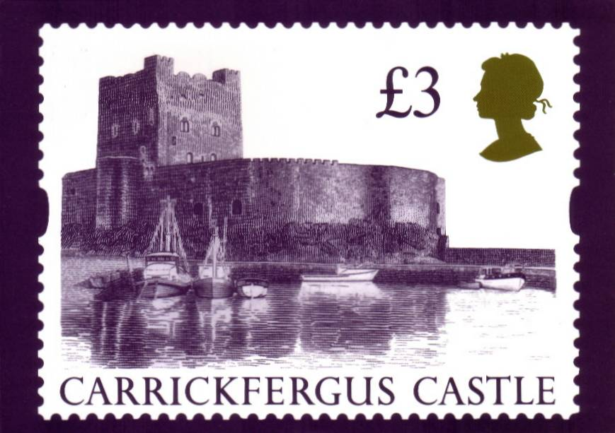 view larger image for PHQ No.D8B (1995) - £3 Castle single card<br/>