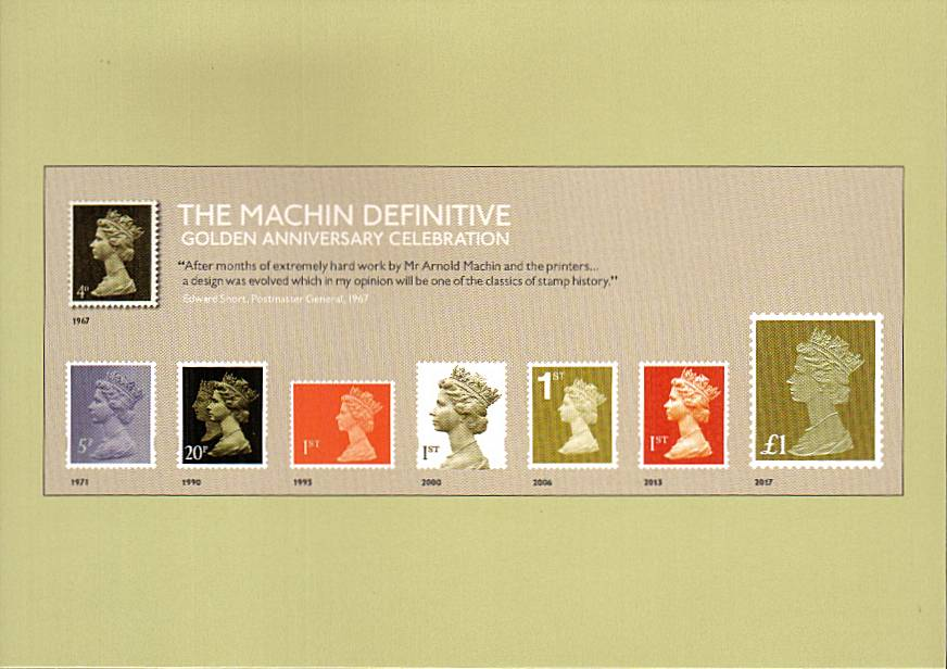 view larger image for PHQ No.429 (2017) - The Machin Definitive - Golden Anniversary Celebration