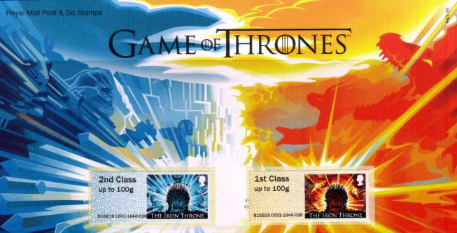 Stamp Image: view larger back view image for Game of Thrones