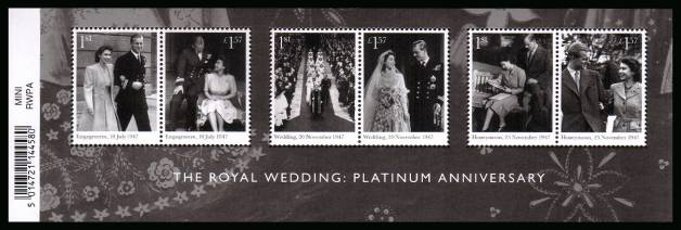 view larger image for SG MS4032 (20 Nov 2017) - The Royal Wedding - Platinum Anniversary<br/>