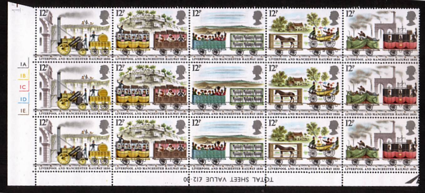 view larger image for SG 1113-1117 (1980) - 150th Anniversary of Liverpool and Manchester Railway<br/> 