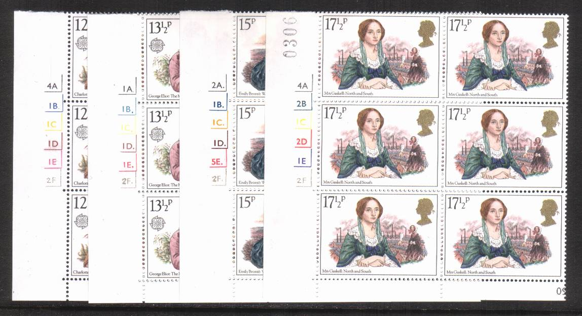 view larger image for SG 1125-1128 (1980) - EUROPA - Famous Authoresses<br/>